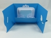 Faire- part ou carte papillon félicitation mariage, anniversaire ou fête en relief 3d kirigami couleur bleu turquoise