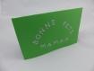 Carte papillons et fleurs pour la fête des mères ou un anniversaire en relief 3d 90° kirigami couleur vert golf
