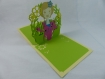 Carte fleuriste pour toutes occasions en relief 3d kirigami 180° couleur caramel