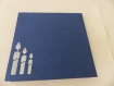 Carte gâteau d'anniversaire pour anniversaire en relief 3d kirigami couleur bleu roi