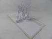 Carte danse pour anniversaire ou autre occasion en relief 3d kirigami couleur gris perle et blanc