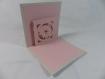 Carte fleur pour anniversaire ou autre occasion en relief 3d kirigami couleur gris perle et rose