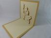 Carte de vœux bonhomme deneige en relief 3d kirigami couleur caramel et ivoire