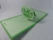 Carte de vœux meilleurs voeux en relief 3d kirigami couleur vert menthe et vert pâle