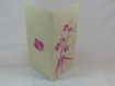 Carte, faire-part, remerciements, menu orchidée en relief 3d kirigami couleur rose fushia et ivoire