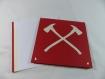 Carte pompier pour anniversaire ou autre occasion en relief 3d kirigami couleur rouge groseille et ivoire