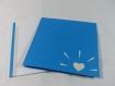 Carte eléphant pour anniversaire ou autre occasion en relief 3d kirigami couleur bleu turquoise et gris perle