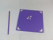 Carte de vœux flocon de noël en relief 3d kirigami 90° couleur violine/ivoire