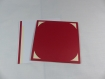 Carte de vœux flocon de noël en relief 3d kirigami couleur rouge groseille et ivoire