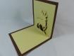 Carte cerf couleur cacao et chamois