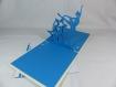 Carte danseuse etoile en relief kirigami 3d couleur ivoire bleu turquoise