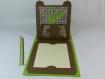 Carte galets zen 180°  anniversaire ou fête en relief 3d kirigami couleur marron