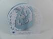 Carte coucou toi ! en relief kirigami 3d couleur blanc et bleu alizé