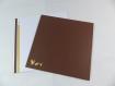 Carte cheval pur-sang pour anniversaire ou autre occasion en relief 3d kirigami couleur cacao et caramel