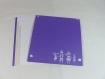 Carte douce nuit couleur violine et gris perle en relief kirigami 3d