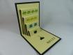 Carte space invaders pour anniversaire ou fête en relief 3d kirigami couleur noir  et chamois