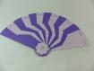 Eventail en kirigami couleur violine et lilas
