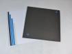 Carte faire-part paris/new-york en relief kirigami 3d couleur noir, bleu turquoise et encart gris perle