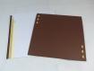 Carte crépuscule d'afrique en relief kirigami 3d couleur cacao, caramel et encart ivoire