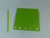 Carte cocotte et poussin en relief kirigami 3d couleur vert menthe et chamois