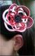 Pince pour cheveux fleur en mizuhiki
