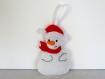Décoration de noel bonhomme de neige, en feutrine, fait main, à suspendre dans votre sapin