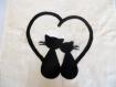 Tote bag, sac en toile, sac cabas, chat noir, coeur, amour, sac bandoulière, chat, sac coton, cadeau, sac réutilisable, sac tissu, sac toile
