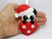 Decoration panda pour un noel kawaii, fait main en feutrine, à suspendre dans votre sapin de noël