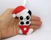Decorations de noel panda, en feutrine, fait main, pour sapin de noël