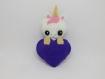 Licorne, porte clefs licorne, cadeau meilleure amie, licorne decoration, cadeau licorne, licorne peluche, cadeau kawaii, violet, ultraviolet