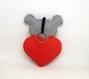 Peluche koala dans un coeur, à suspendre, en feutrine, fait main