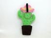 Décorations cactus kawaii, madame cactus, en feutrine, fait main, cadeau anniversaire pour elle
