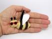 Porte clé abeille, kawaii, en feutrine, fait main, cadeau thème été