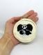 Porte monnaie panda pirate, en coton et feutrine, pour enfant, fait main, cadeau d'anniversaire