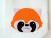Décoration murale, fanion panda roux, en feutrine, fait main, pour chambre d'enfant ou bébé