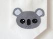 Fanion koala, décoration murale, en feutrine, fait main, pour chambre d'enfant ou bébé