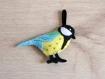Mésange charbonnière, oiseau en feutrine, fait main, petit cadeau de fête des mères
