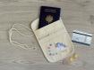 Pochette secrète tour de cou licorne, pour ranger passeport et argent