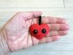 Porte clé coeur rouge, kawaii, en feutrine, fait main, petit cadeau d'amour