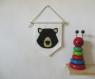 Fanion wombat, décoration murale, en feutrine, fait main, pour chambre d'enfant ou bébé