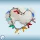 Bracelet en acier inoxydable et verre de république tchèque couleur arc-en-ciel