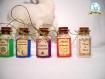 Lot de 3 potions au choix à suspendre ou poser, inspiration harry potter