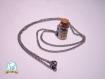 Collier, fiole de poudre de fée, inspiration harry potter et peter pan