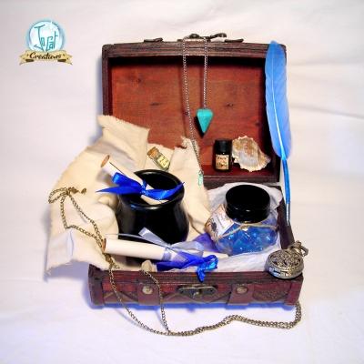 Valise pour sorcier (couleurs de serdaigle) inspiration harry potter