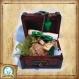 Kit pour sorcier, inspiré d'harry potter, aux couleurs de la maison de poudlard : serpentard
