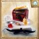 Coffret pour sorcier, inspiré d'harry potter, aux couleurs de la maison de poudlard : poufsouffle