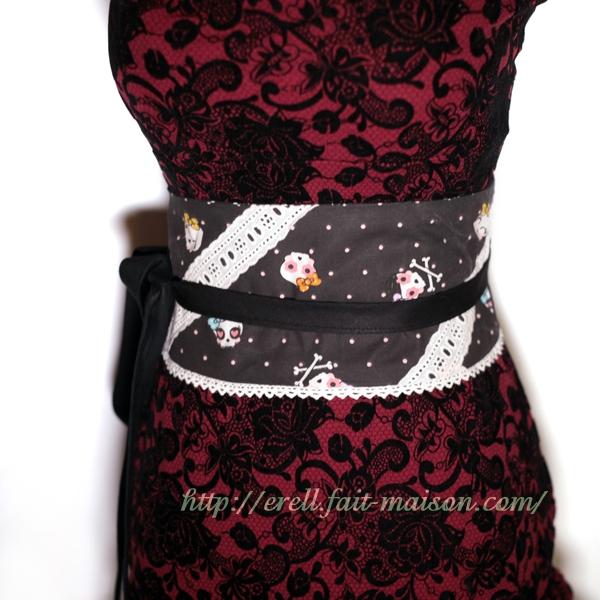 Ceinture obi réversible noire   accessoires-femme par erell b0c10ae2cd1
