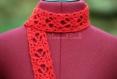 Écharpe crochet rouge