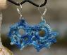 Boucles d'oreille baroques - chiné bleu