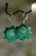 Boucles d'oreille baroques - chiné vert